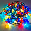 Garland of colored lights for Christmas trees — Stock Photo
