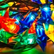 Garland of colored lights for Christmas trees — Стоковая фотография