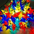 Garland of colored lights for Christmas trees — Foto Stock