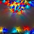 Garland of colored lights for Christmas trees — Stockfoto
