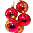 Christmas decorations in different colors — Stock Photo