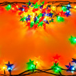 Stock Photo: Garland of colored lights for Christmas trees