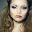 Closeup portrait of a sexy young woman — Stock Photo