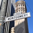 Stock Photo: Montgomery Street, SFrancisco
