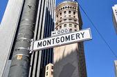 Montgomery Street, San Francisco — Stock Photo