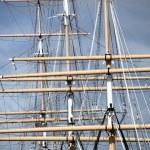 Masts Of Sailing Ship — Stock Photo