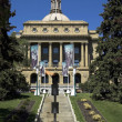 The front aspect of the Alberta Legislature Building. — Stock Photo