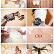 Collage of eight wedding photos - Stock Photo