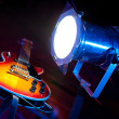 Guitar with lighting - Stock Photo
