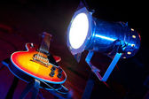 Guitar with lighting — Stock Photo