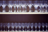 Empty wine glasses — Foto Stock