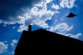 Sylwetka domu — Zdjęcie stockowe
