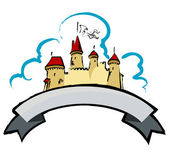 Castillo medieval — Vector de stock