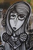 Psychedelic Graffiti Girl — Foto de Stock