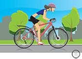 Biker Girl — Stock Vector