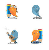 Aves de web — Vector de stock