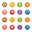 Постер, плакат: Colored dots Ecological Icons
