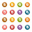 Colored dots - File format icons — Stock Vector