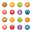 Colored dots - Media Icons — Stock Vector #5521784