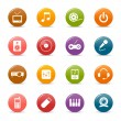 Royalty-Free Stock Vector Image: Colored dots - Media Icons