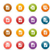 Colored dots - File format icons — Stockvektor