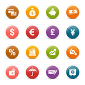 Colored dots - Finance icons — Stock Vector