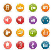 Colored dots - Media Icons — Stock Vector