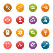Colored dots - medical icons — Stock Vector
