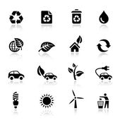 Basic - Ecological Icons — Stock Vector