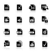 Basic - iconos de formato de archivo — Vector de stock