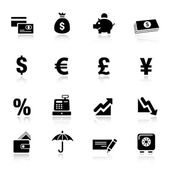 Basic - Finance icons — Stock Vector