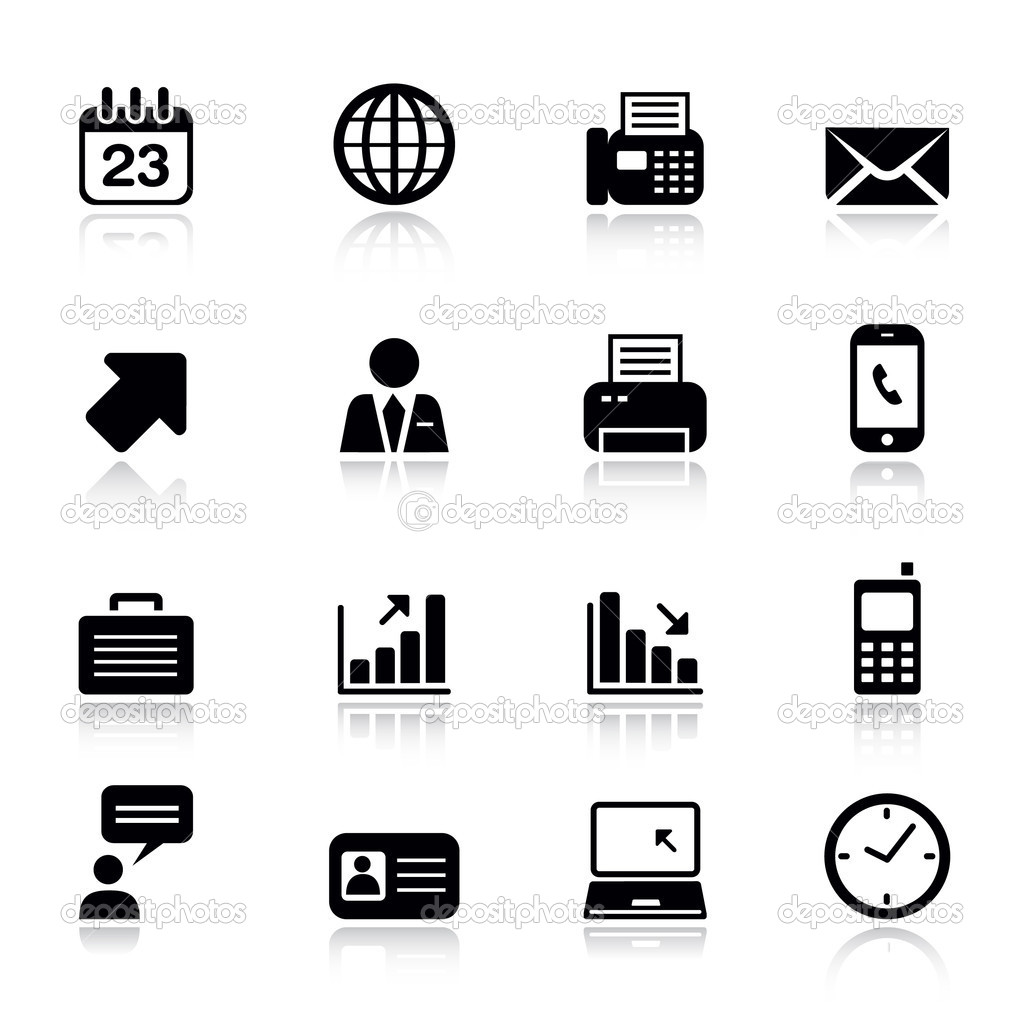 Business Card Icons Vector Business Card Icons Vector