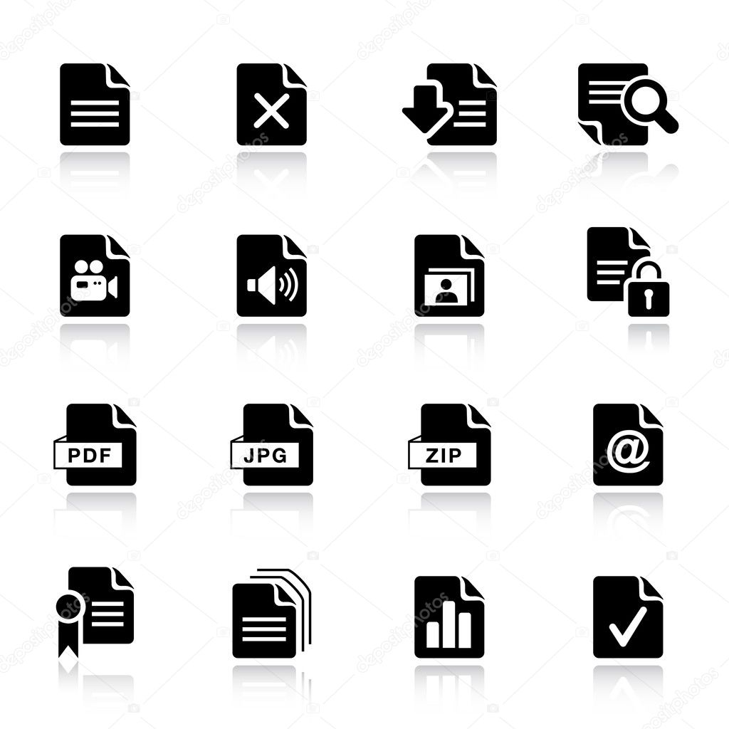 Basic -  File format icons — Stock Vector #5531282