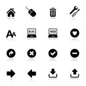 Basic - Classic web icons — Stock Vector