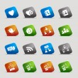 Royalty-Free Stock Vectorielle: Cut Squares - Social media icons