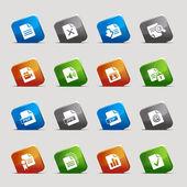 Cut Squares - File format icons — Stock Vector