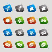 Cut Squares - Shopping icons — Stock Vector