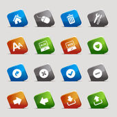Cut Squares - classic web icons — Stock Vector