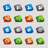 Cortar cuadrados - iconos web clásico — Vector de stock