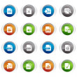 Glossy Buttons - File format icons 01 — Stock Vector #5598839