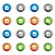Stock Vector: Glossy Buttons - File format icons 01
