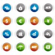 Royalty-Free Stock Vector Image: Glossy buttons - Finance icons 01