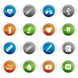 Glossy buttons - medical icons 01 — Stock Vector