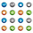 Glossy Buttons - Shopping icons 01 — Stock Vector
