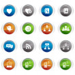 Royalty-Free Stock Vector Image: Glossy Buttons - Social media icons 01