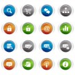 Royalty-Free Stock Vector Image: Glossy buttons - web icons 01