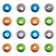 Stock Vector: Glossy buttons - web icons 02
