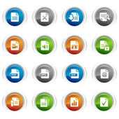 Glossy Buttons - File format icons 01 — Stock Vector