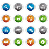Glossy buttons - web icons 01 — Stock Vector