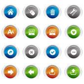 光泽按钮-web 图标 02 — 图库矢量图片